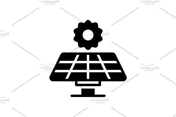Solar Panel Icon Solar Panels Webpage Design Icon