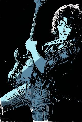 Rory Gallagher and other musicians in toonpaint pictures [Checker ...