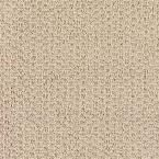 Carpet Sample - Morningside - Color Rice Paper Loop 8 in. x 8 in., Beige/Ivory