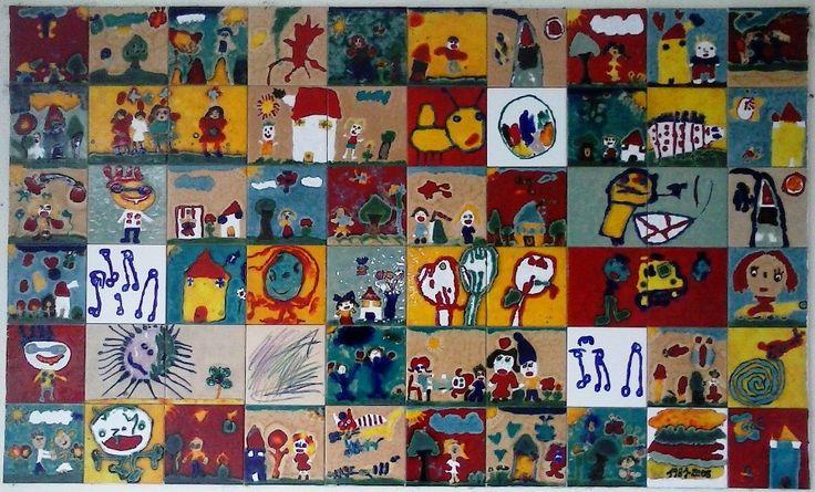 painel de azulejos na Cruz Vermelha de Valbom, Gondomar