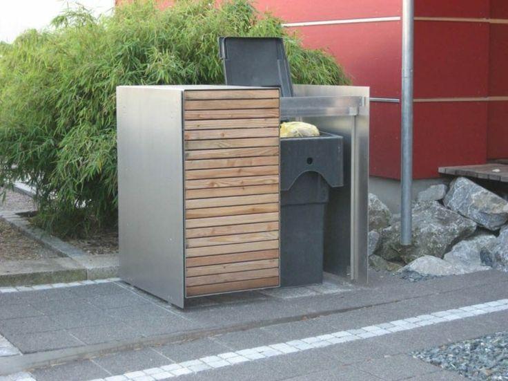 Cache poubelle bois id es diy pour camoufler les conteneurs disgracieux jardin pinterest - Cache conteneur poubelle ...