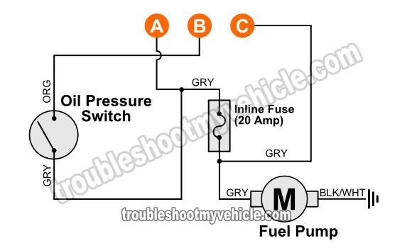 Fuel Pump Wiring Diagram (1994 Chevy Pickup 4.3L, 5.0L, 5
