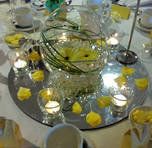 Glass fish bowl large decorative wedding party ball vases