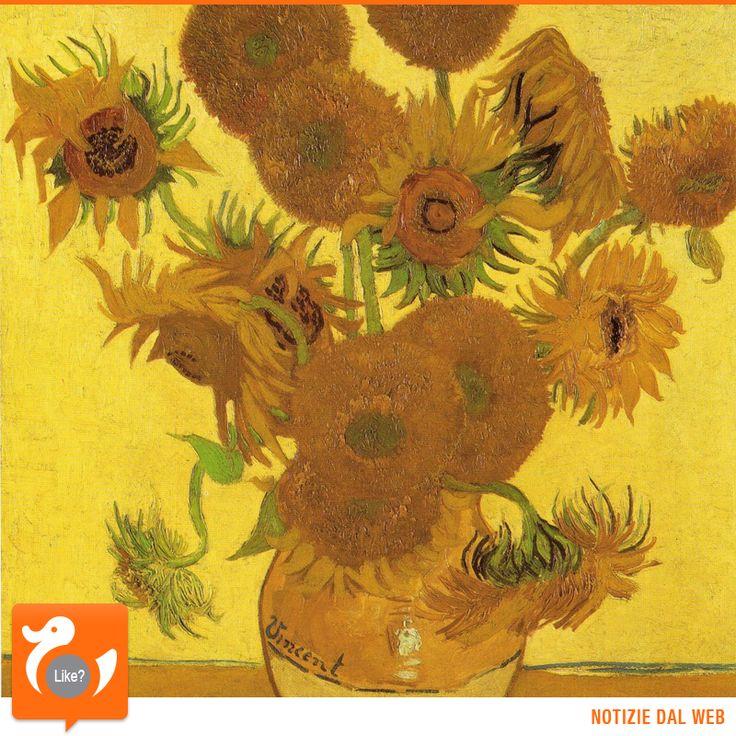 """ACCADDE OGGI Il quadro """"Vaso con quindici girasoli"""" di Van Gogh viene battuto all'asta da Christie's per circa 40 milioni di dollari. Se lo aggiudica il magnate giapponese Yasuo Goto. E' il 30 marzo 1987"""