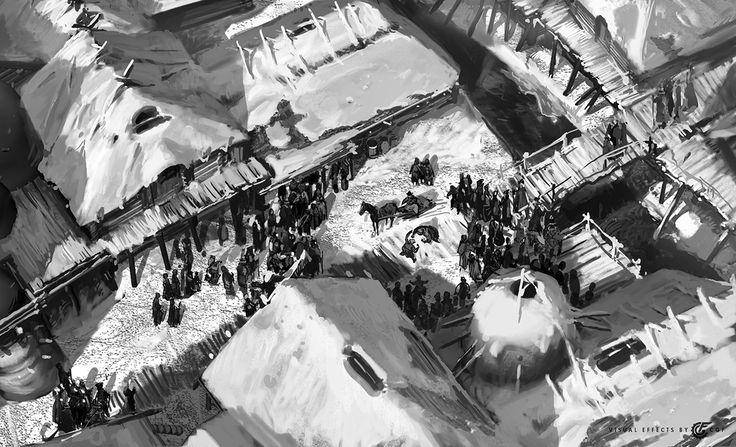 "Ancient city, concepts for the movie ""He is dragon"" 2., Valeriy Zrazhevskiy on ArtStation at https://www.artstation.com/artwork/bV8Zm"