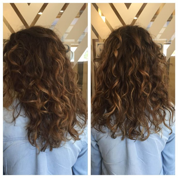 I just LOVE balayage on curly hair!