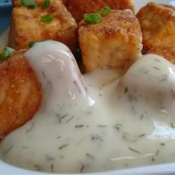 Honey Dill Sauce for chicken - 1/2 c mayo, 1/2 c honey, 1 T dried dill weed