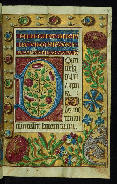 This book of hours was produced ca. 1510-1520 for a member of the Catalonian Almugavar (or Almogàver) family, whose coat of arms appears throughout the manuscript in the borders of the lavish full-page miniatures.