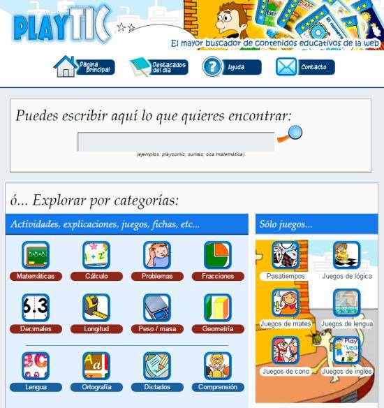 AYUDA PARA MAESTROS: PlayTIC - El mayor buscador de contenidos educativ...