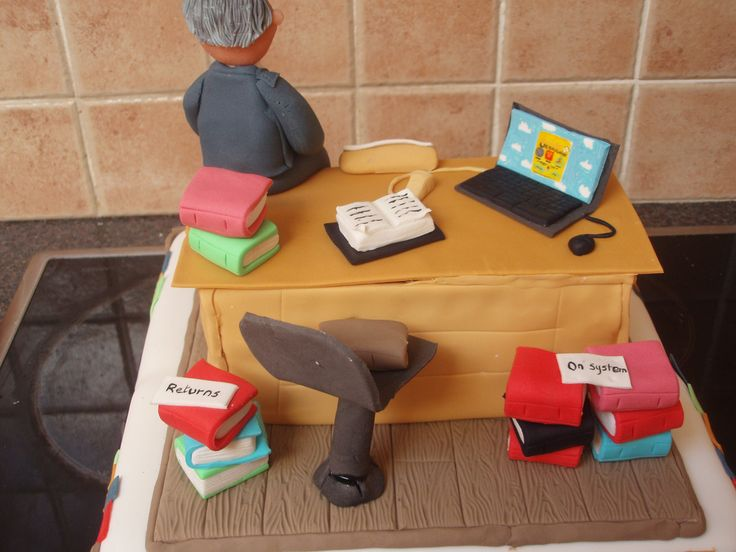 https://flic.kr/p/6ANzr5 | Teacher/Librarian Retirement Cake showing library package on laptop | This wasa very special cake I did for a teacher. I included the library software package that we use at the school. He was delighted with the detail
