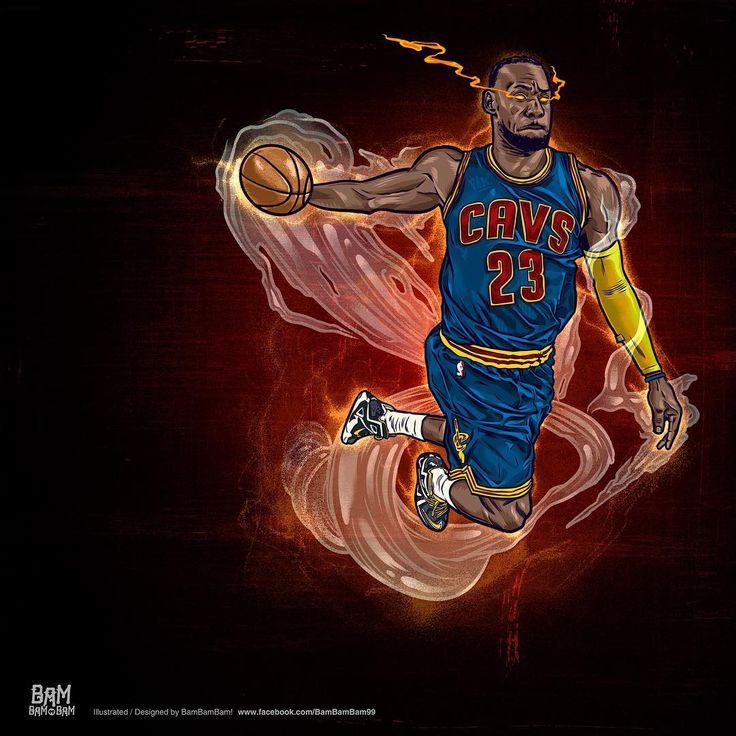 LeBron James Heat Seeking Vision Illustration (Basketball Drawings)