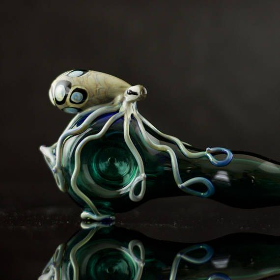 Large Octopus Pipe / Octopus Glass Pipe / American Made Glass