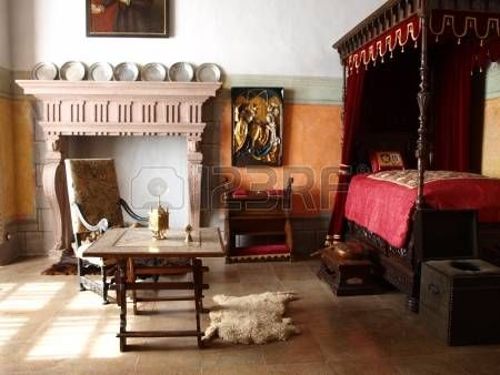 One of the rooms in the castle in Jindrichuv Hradec Czech Republic Stock Photo