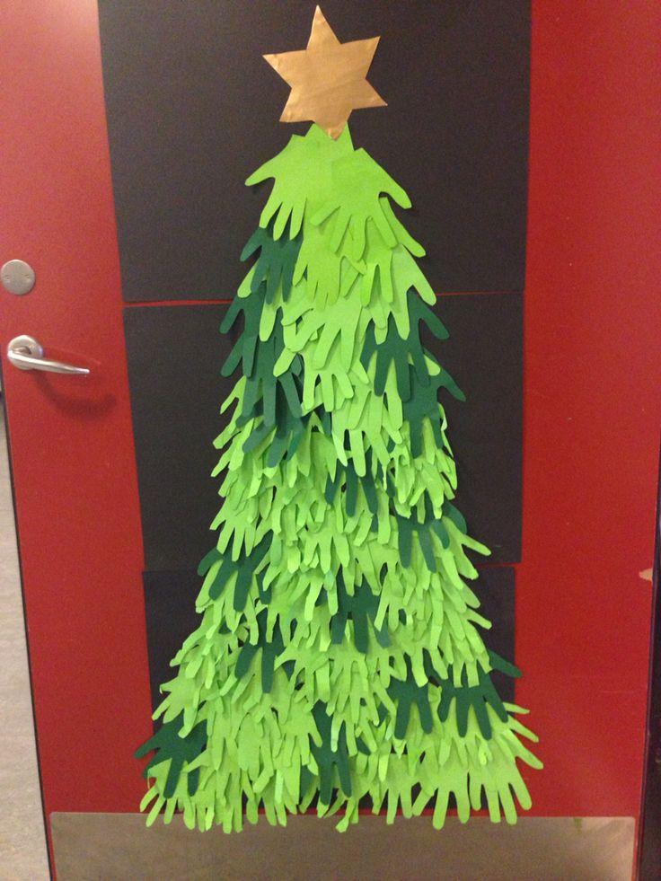 0 klasse laver juletræ