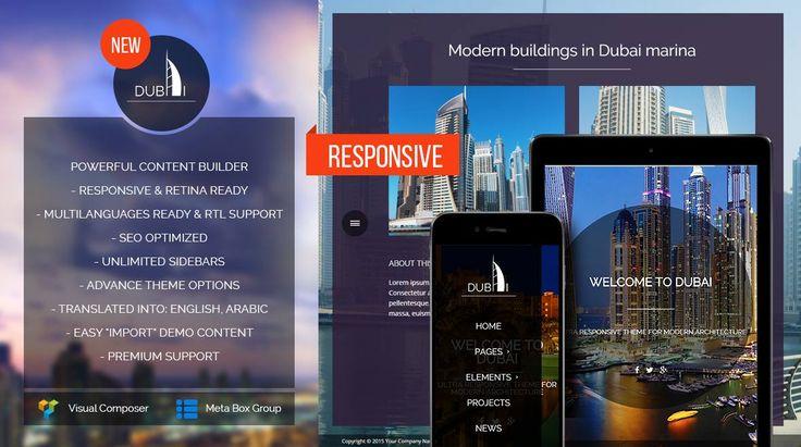 Wordpress Theme promo image mojo theme #originalwebdesign, #Dubaiarchitecture, #visualcomposer , #wordpresstheme, #ModernArchitecture,  #responsivedesign
