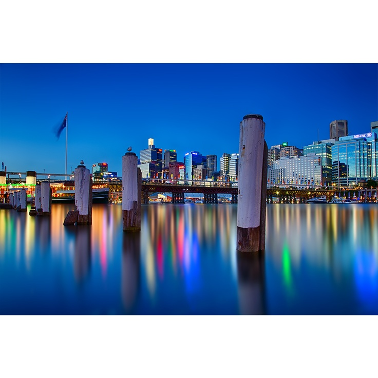 Darling Harbour during Blue Hour