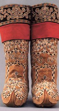 Russian northern folk costume - boots