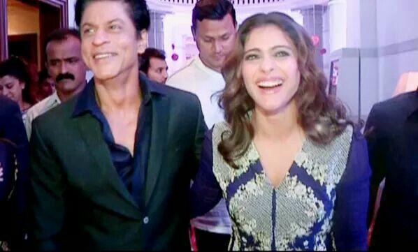 #SRKajol at Saas Buhu Aur Sazish #Diwale promotion