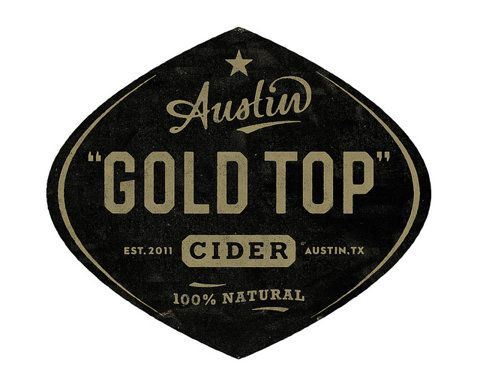 Gold Top Cider packaging by Simon Walker #crest #typography #logo