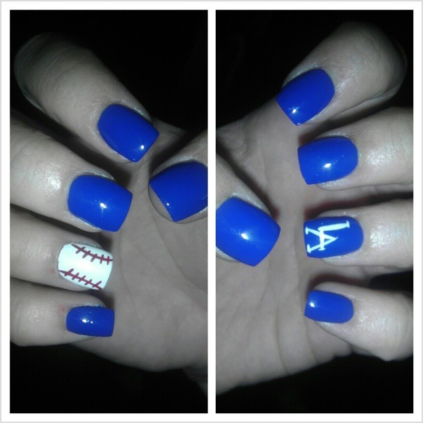 Dodger baseball nails...would be better with Yankees!  :)