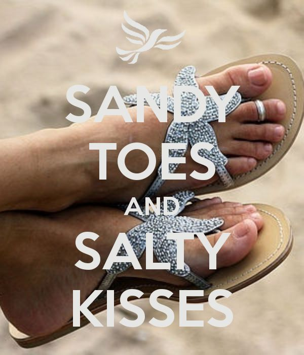 SANDY TOES AND SALTY KISSES - by me JMK