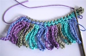 How to crochet chain loop fringe edging