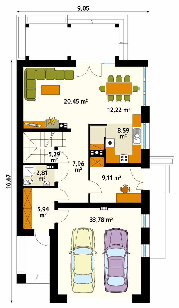 Amarylis 3 jest projektem dopasowanym do potrzeb 5 osobowej rodziny. W projekcie pojawiła się piwnica, w której zlokalizowano kotłownię oraz pomieszczenia gospodarcze. Przestrzeń parteru zajmuje kuchnia ze spiżarnią, jadalnia oraz przestronny i wygodny salon. Autor projektu wygospodarował też miejsce na dodatkowy pokój, który idealnie sprawdzi się jako przestrzeń do pracy w domu. Strefa nocna ulokowana została na poddaszu.Znalazły się tu 4 sypialnie, garderoba oraz 2 łazienki. W bryłę…