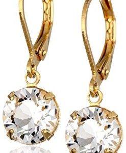 1928-Jewelry-14k-Gold-Dipped-Genuine-Swarovski-Crystal-Drop-Earrings-0