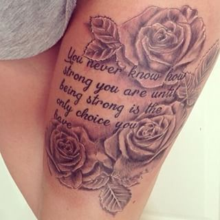 quote thigh tattoo design - Google Search