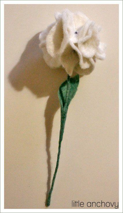 hortensia en fieltro