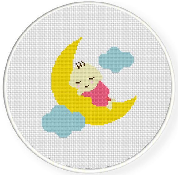 FREE for June 30th 2014 Only - Sleepy Baby Cross Stitch Pattern