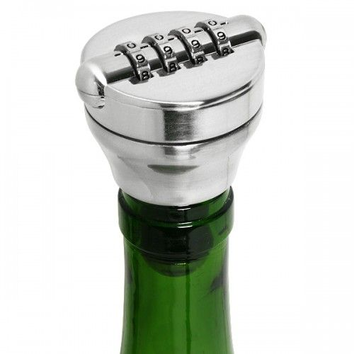 This Wine Lock is a great idea for those who are safety conscious with their drinks. Whether you are sick of people swigging your home bar when you are on holiday or the kids have been nabbing your vodka and topping it up with water, the Wine Lock Bottle Stopper will help keep them secure!