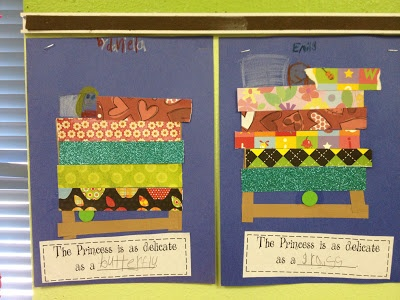 Princess and the Pea writing prompt!