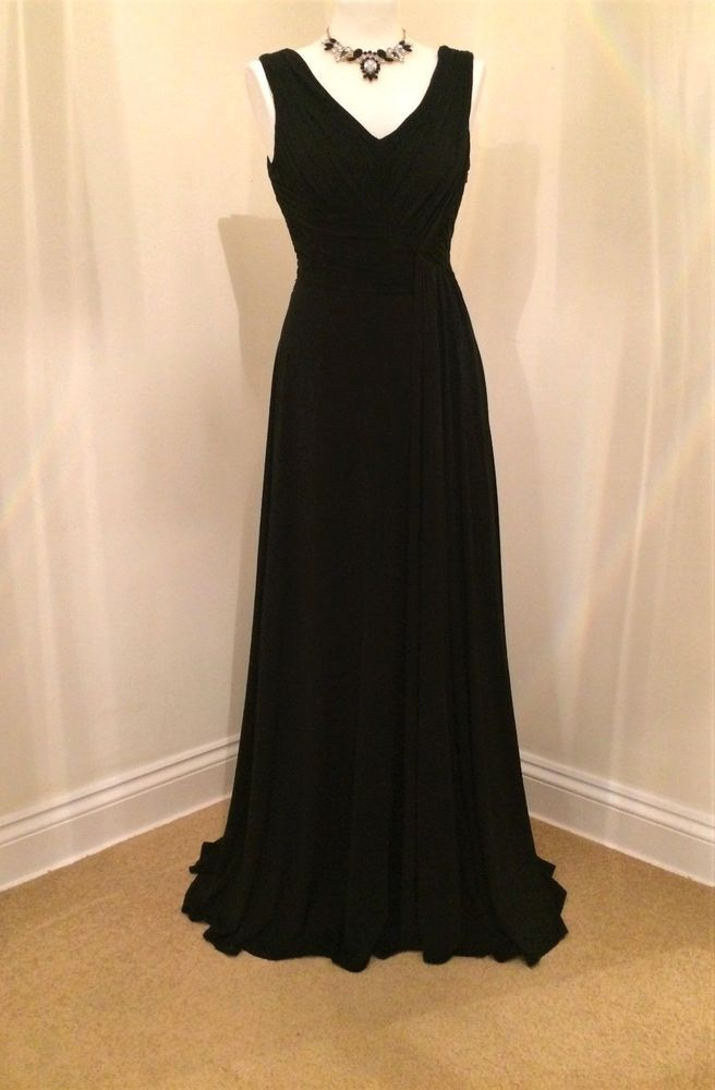 39a12b8d4bb30 Coast long black ballgown maxi special occasion party dress size 14 #Coast # BallGown #