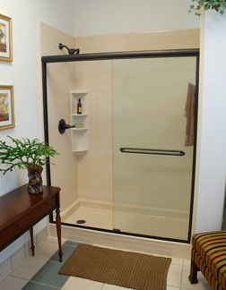 pearl tub to shower conversion w doors