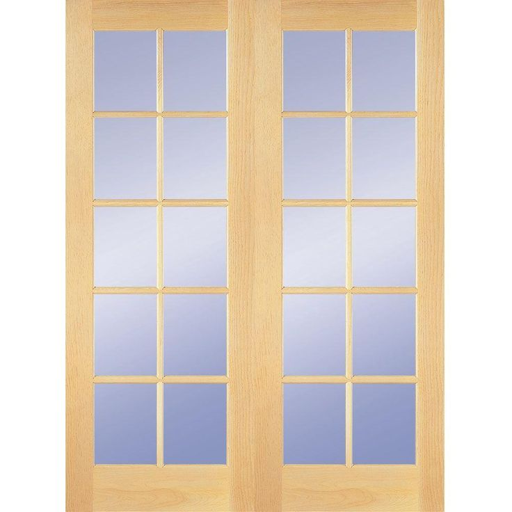 Builder's Choice 48 in. Wood Clear Pine 10-Lite Prehung French Double Door-HDCP151040 at The Home Depot