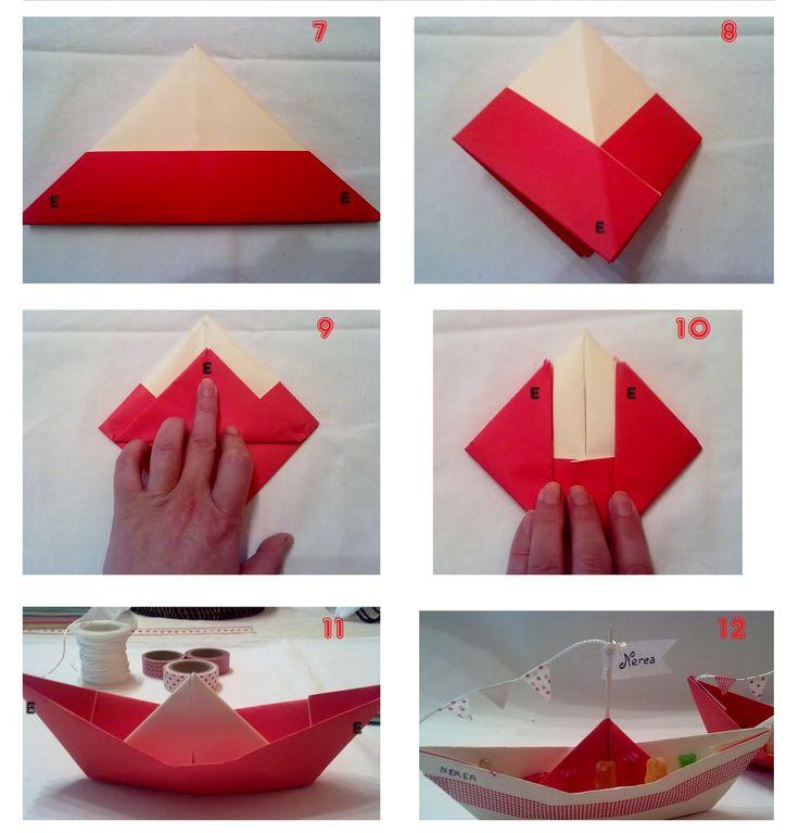 Barquito de papel paso a paso manualidades con papel - Papel partitura para manualidades ...