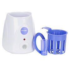 Babies R Us Purely Simple Single Bottle Warmer This is a type of bottle warmer I used... I liked that it had an automatic shut off! But you would need to check that it fits your type of bottle. I think they try to get them to fit most all bottle sizes though.