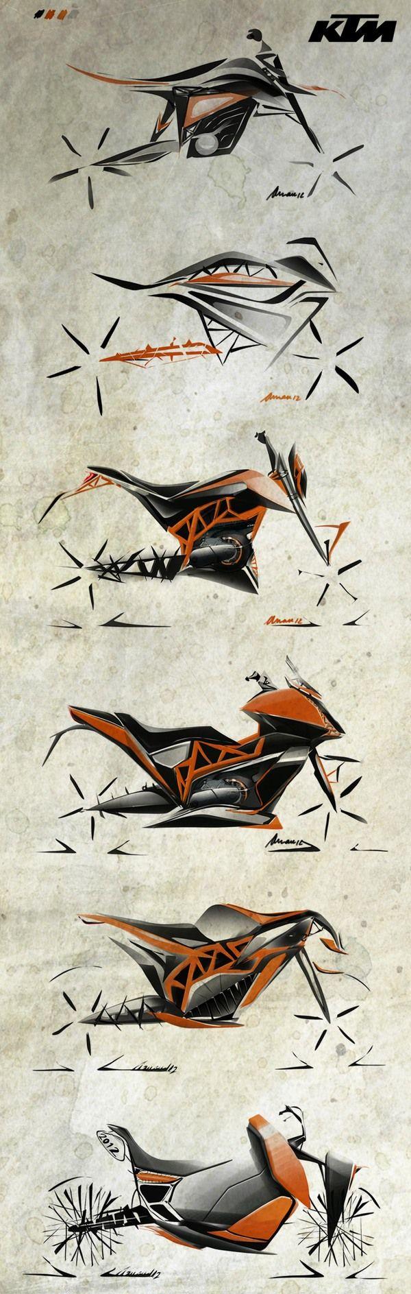 Motorcycle design by Arnau Sanjuan Roman, via Behance