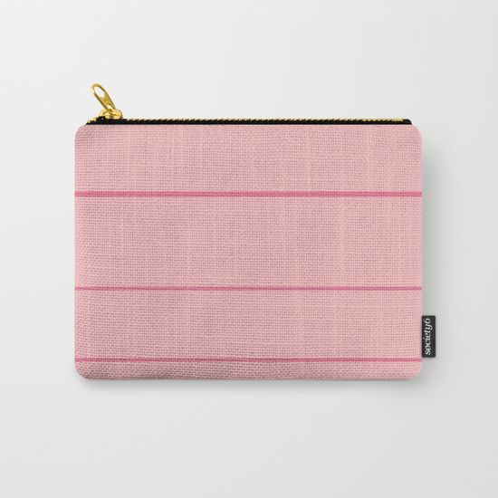 Sweet Pink Stripes Carry-All Pouch by Bravely Optimistic | Society6