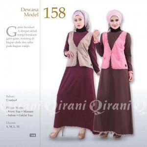 Baju Gamis Qirani Modis Model 158 Terbaru http://distromuslimah.net/baju-gamis-qirani-modis-model-158-terbaru/