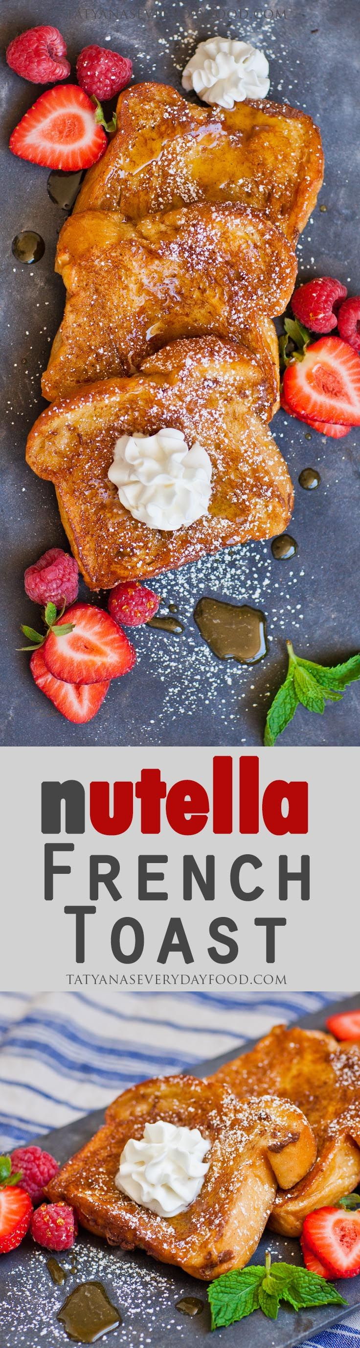 As if French Toast was not delicious enough on its own, I've taken it to another level and stuffed it full of Nutella! This Nutella-stuffed French Toast is literally stuffed with chocolate-y Nutella, dipped in a cinnamon custard and sprinkled with cinnamon sugar for a caramelized finish. It's perfect for weekend brunches or when you […]