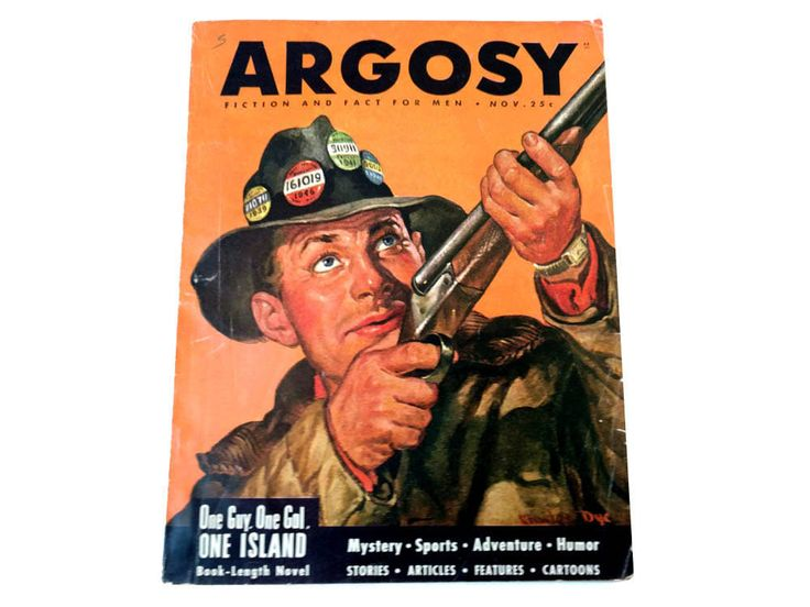 Argosy Magazine November 1946 Pulp Fiction Charles Dye Charlie Dye Cover Art Duck Hunting Game Birds Hunter Sportsman Skeet Shooting Rifle by CollectionSelection on Etsy