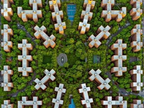 Stuyvesant Town, New York. A large, post-World War II private residential development, stretching fr... - Jeffrey Milstein