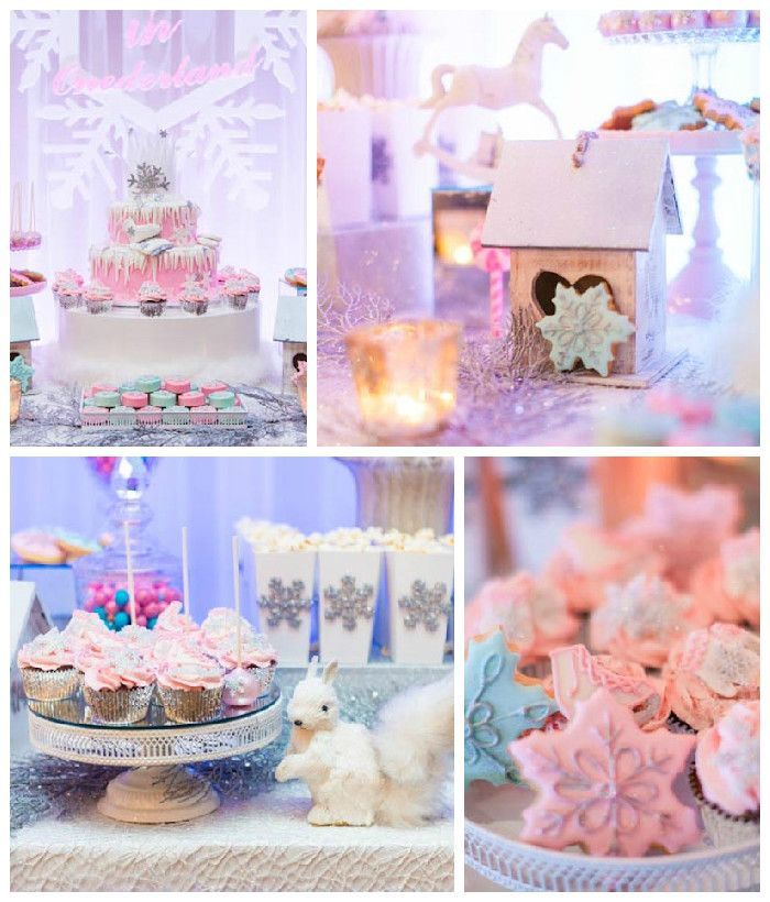 Pastel Winter ONEderland Themed Birthday Party via Kara's Party Ideas KarasPartyIdeas.com #winterwonderland #winterONEederland #winterwonder...