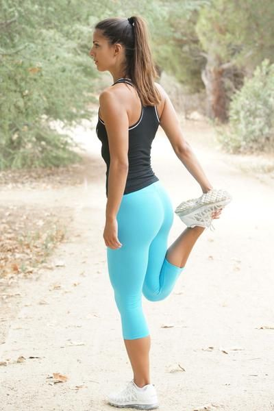 Cotton Spandex Capri Legging