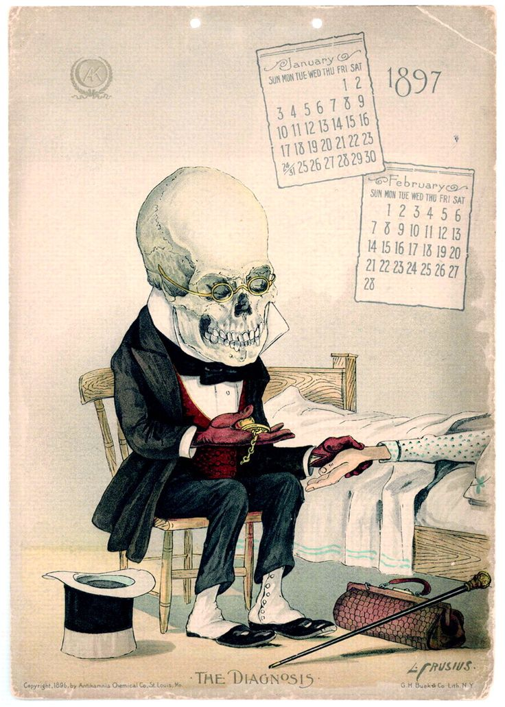"""The Diagnosis"" The Antikamnia Chemical Company Calendar"