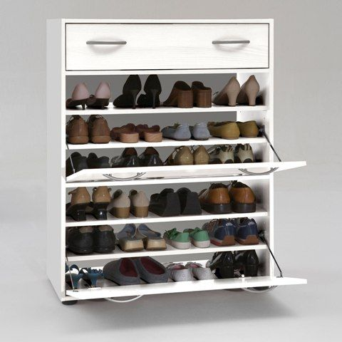 A Perfect Place For All My Shoes! BigFoot White Shoe Storage Solution