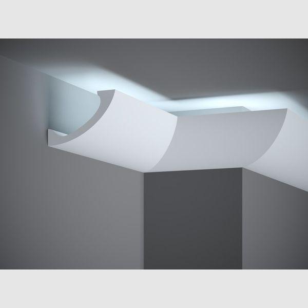 Indirektes Lich Mit Hochwertigen Deckenleisten Moderner Stuck Deckenlichtleiste 200 X 11 5 X 7 8 Cm Mardom Col Deckenleisten Indirektes Licht Akzentwand