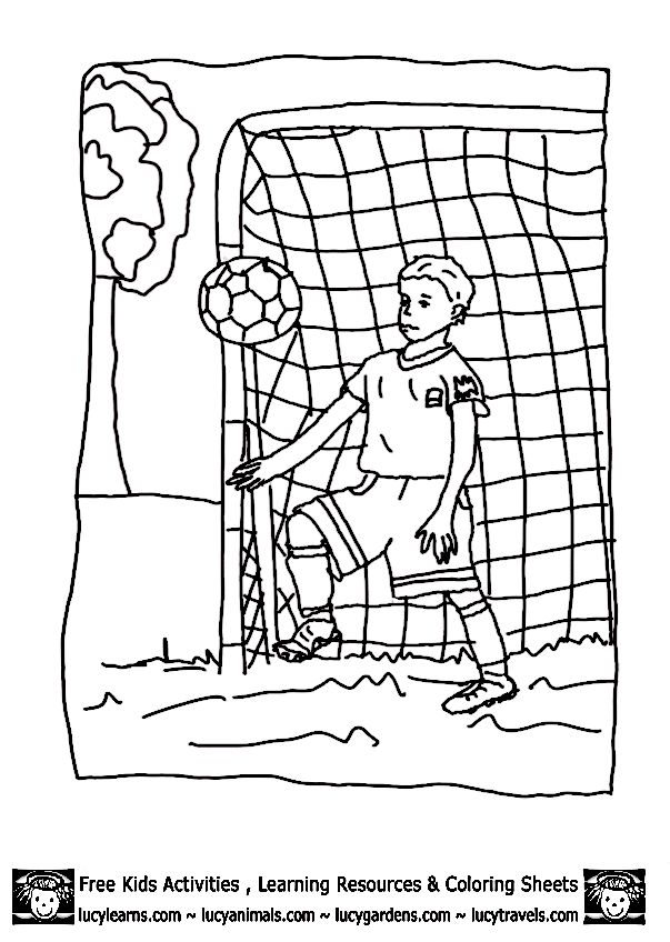 boy coloring page - Soccer Coloring Pages
